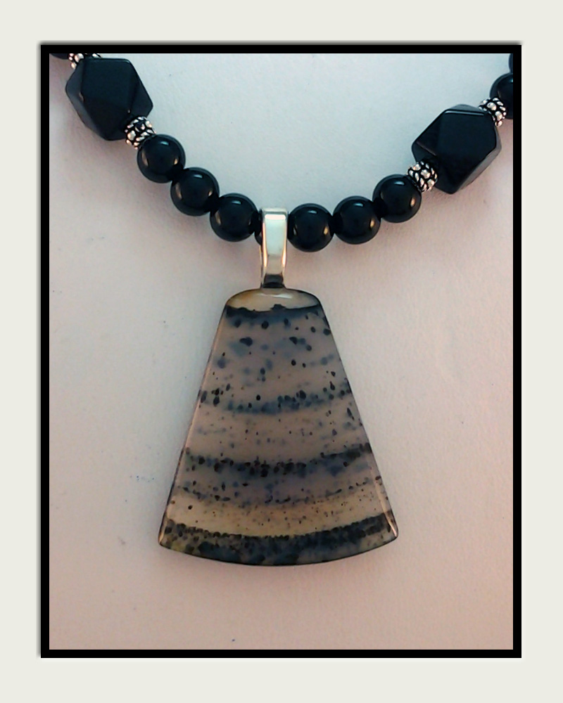 Web site name montana agate necklaces montana agate pendant beaded necklace aloadofball Choice Image